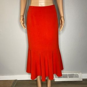 Monroe and Main Red Skirt with Ruffled Bottom 16